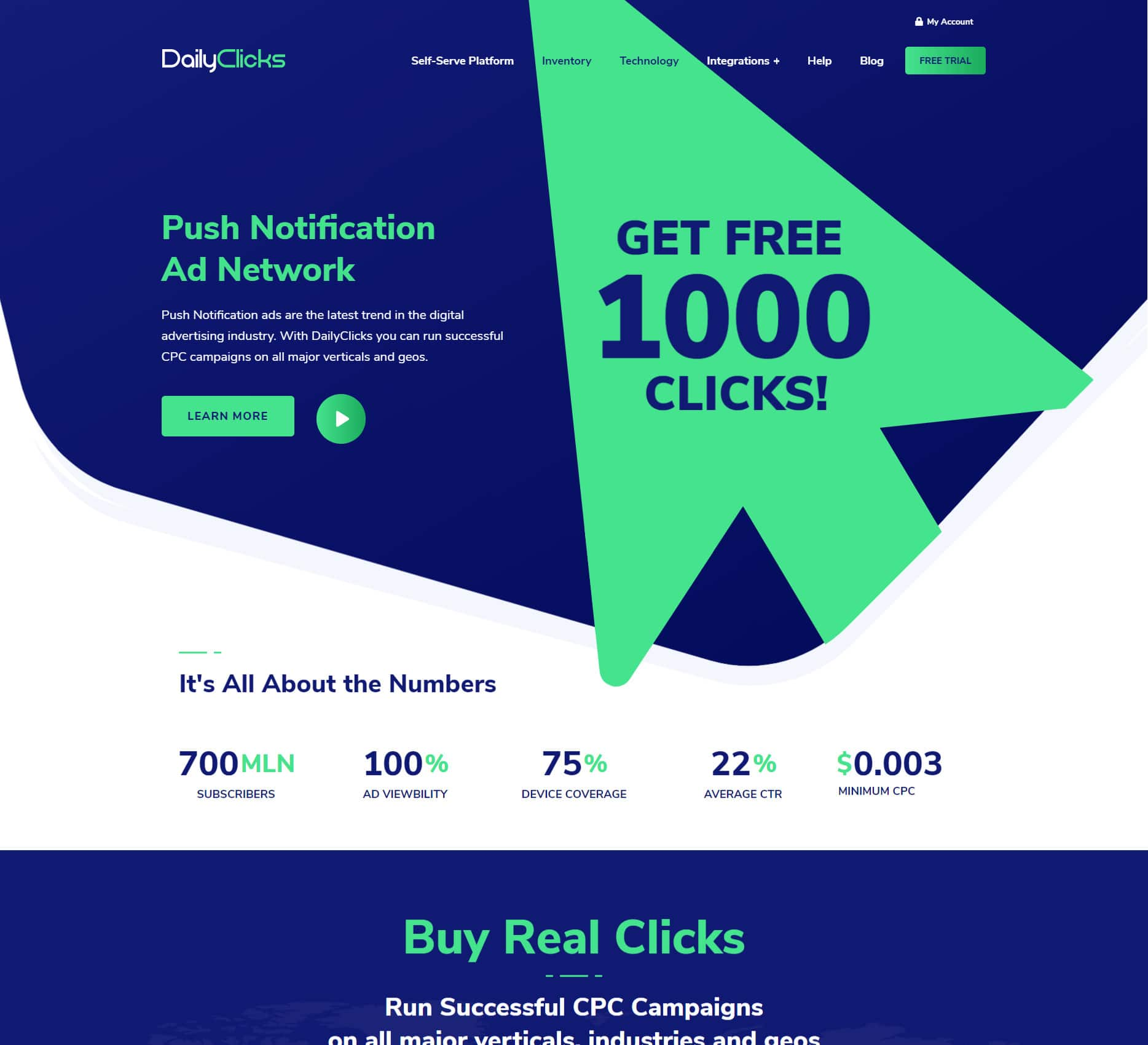 Daily Clicks - PPC - Marketing Portfolio