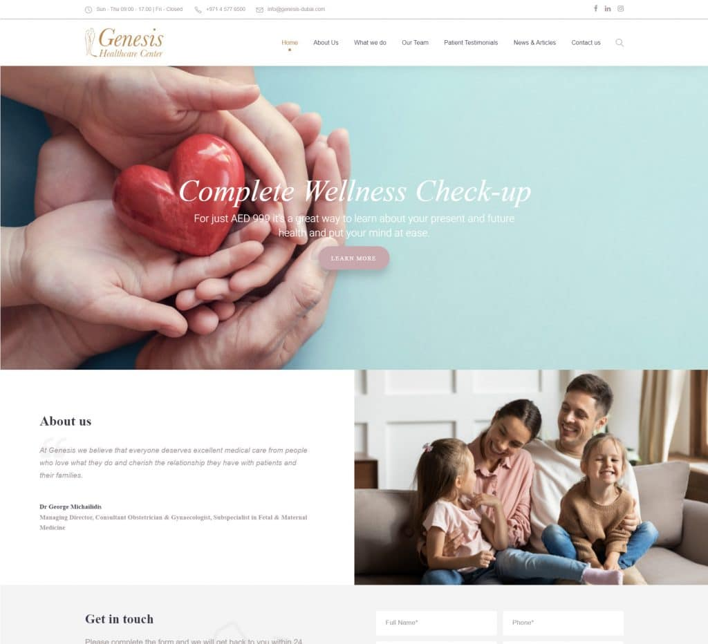 Genesis Healthcare Website